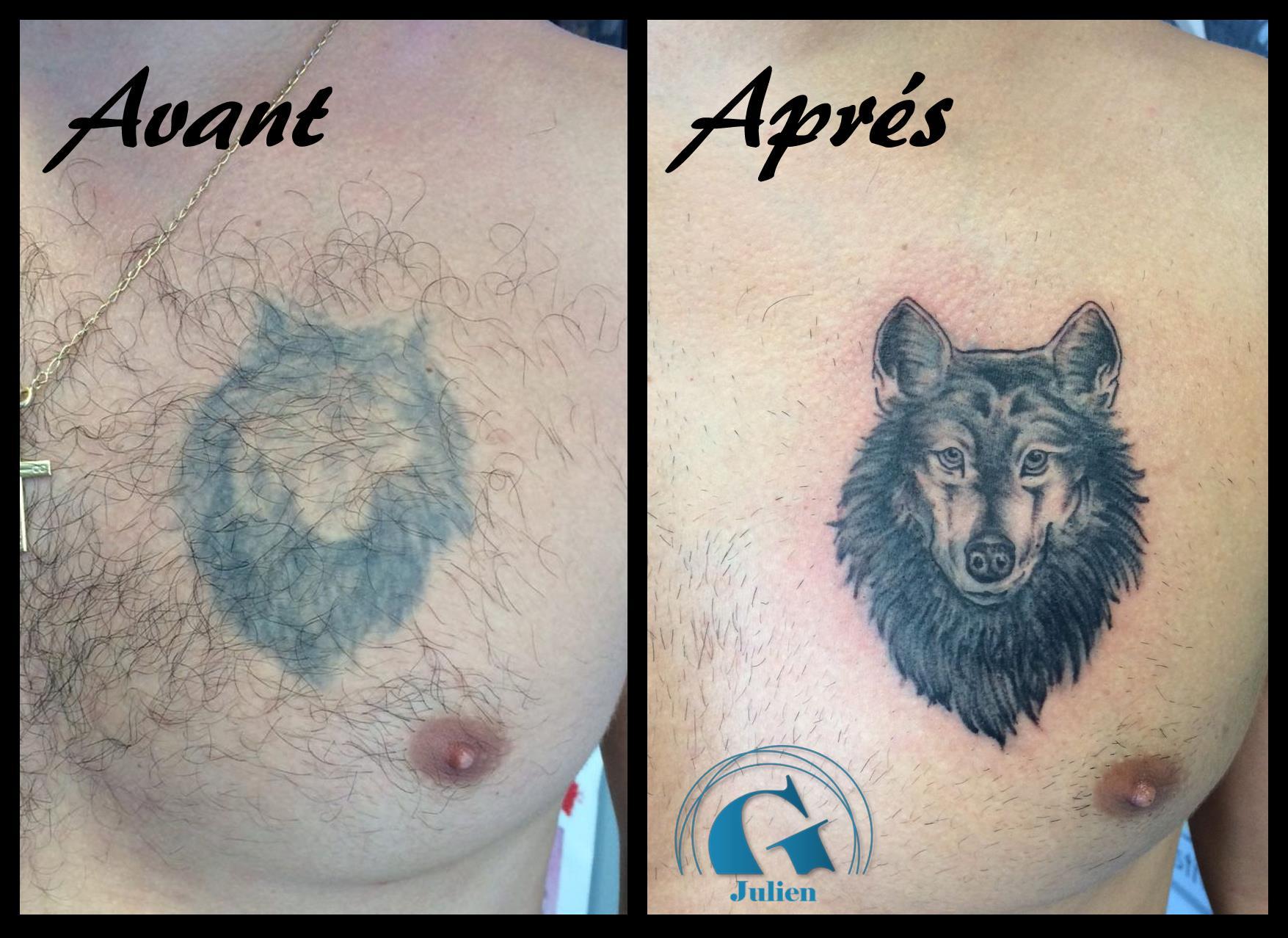 Rattraper vos tatouages est possible - Tatouage de loup ...