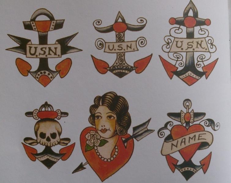 l ancre marine un motif phare du tatouage graphicaderme. Black Bedroom Furniture Sets. Home Design Ideas