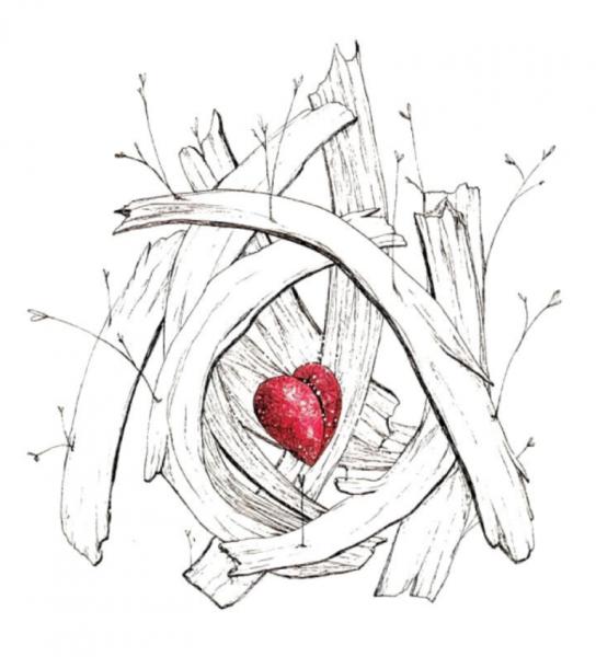 Un tatouage en hommage sa fille agathe graphicaderme - Dessin du coeur humain ...