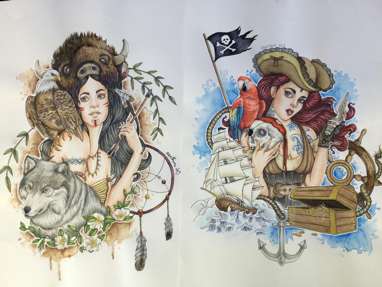 Dessin Tatouage Femme Couleur Vaucluse Jpg Graphicaderme