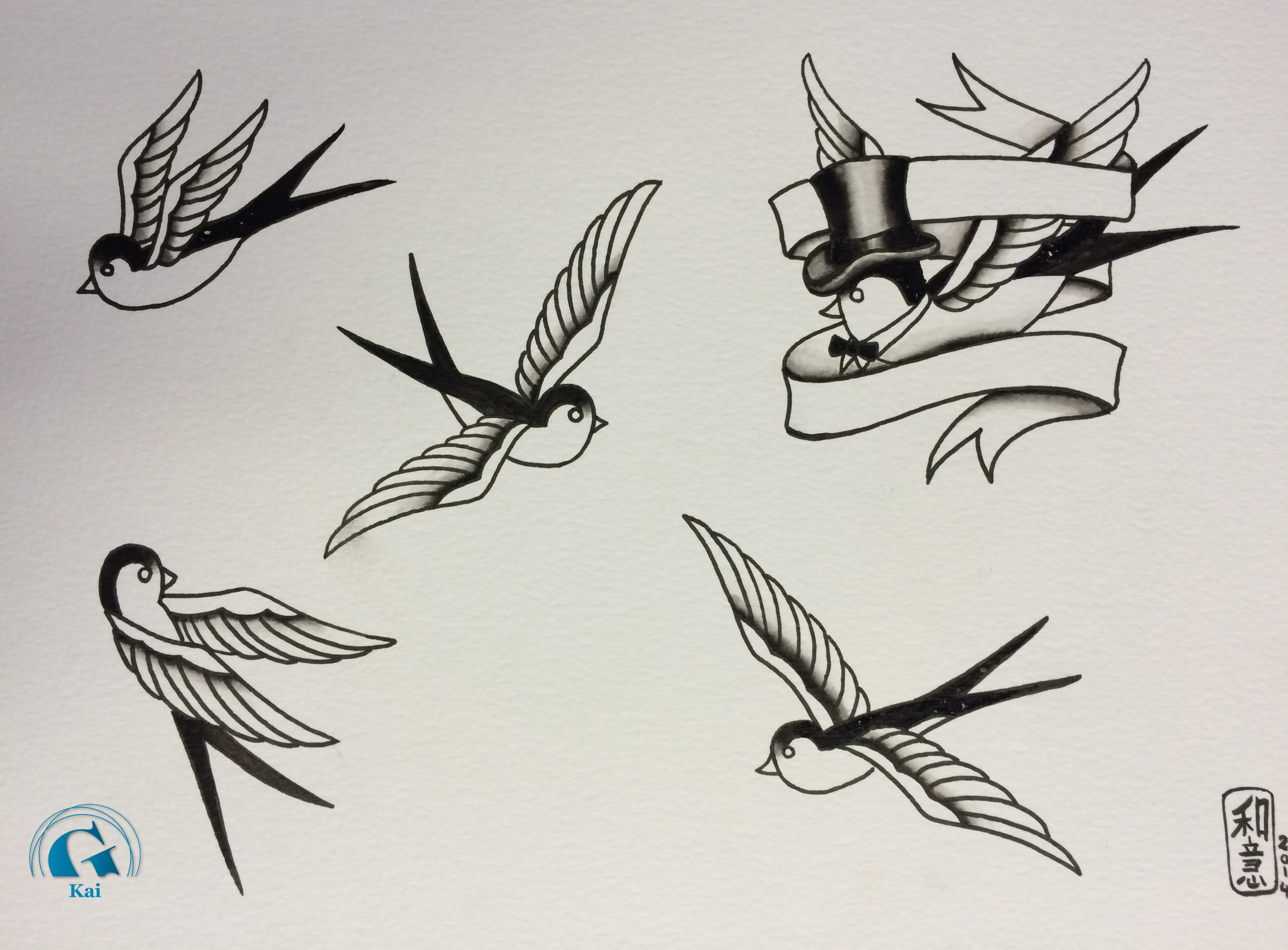 Tatouage hirondelle old tattoo pictures to pin on pinterest - Tatouage hirondelle signification ...