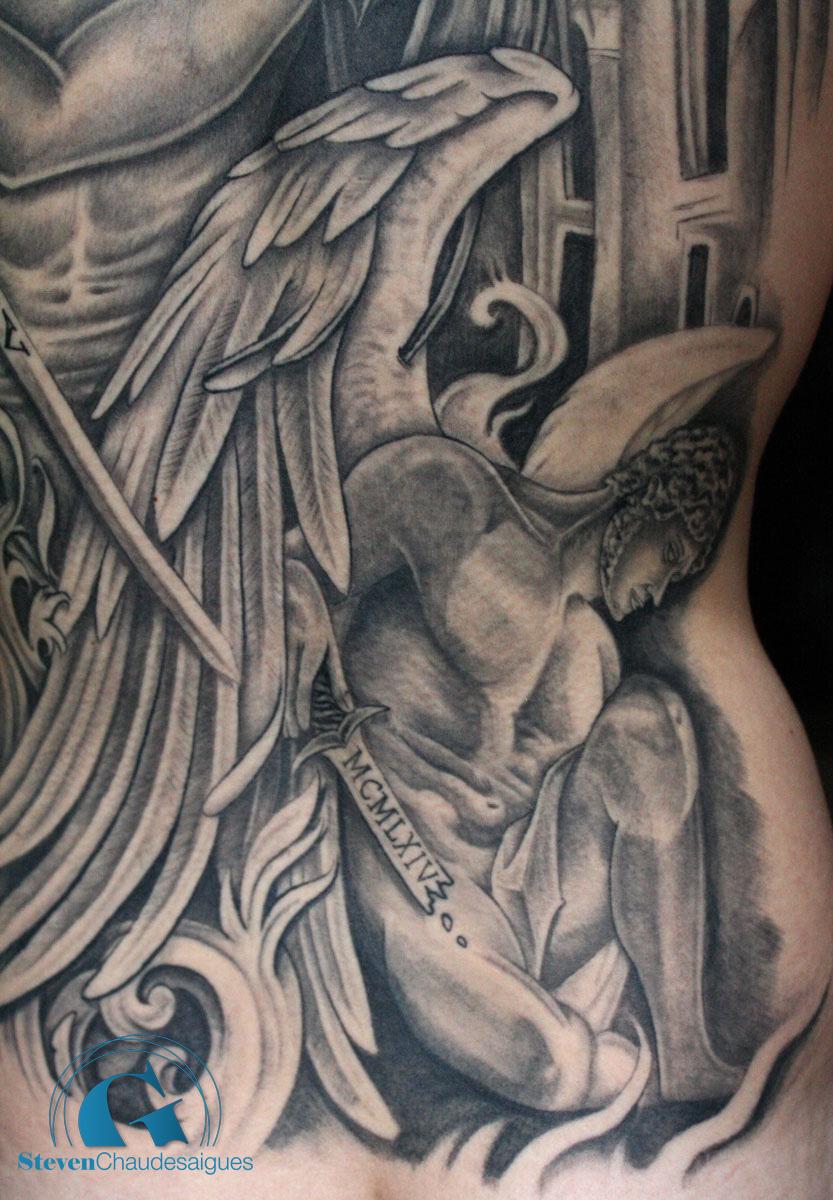 Tatouage Dos Complet Par Steven Chaudesaigues Graphicaderme Tattoo