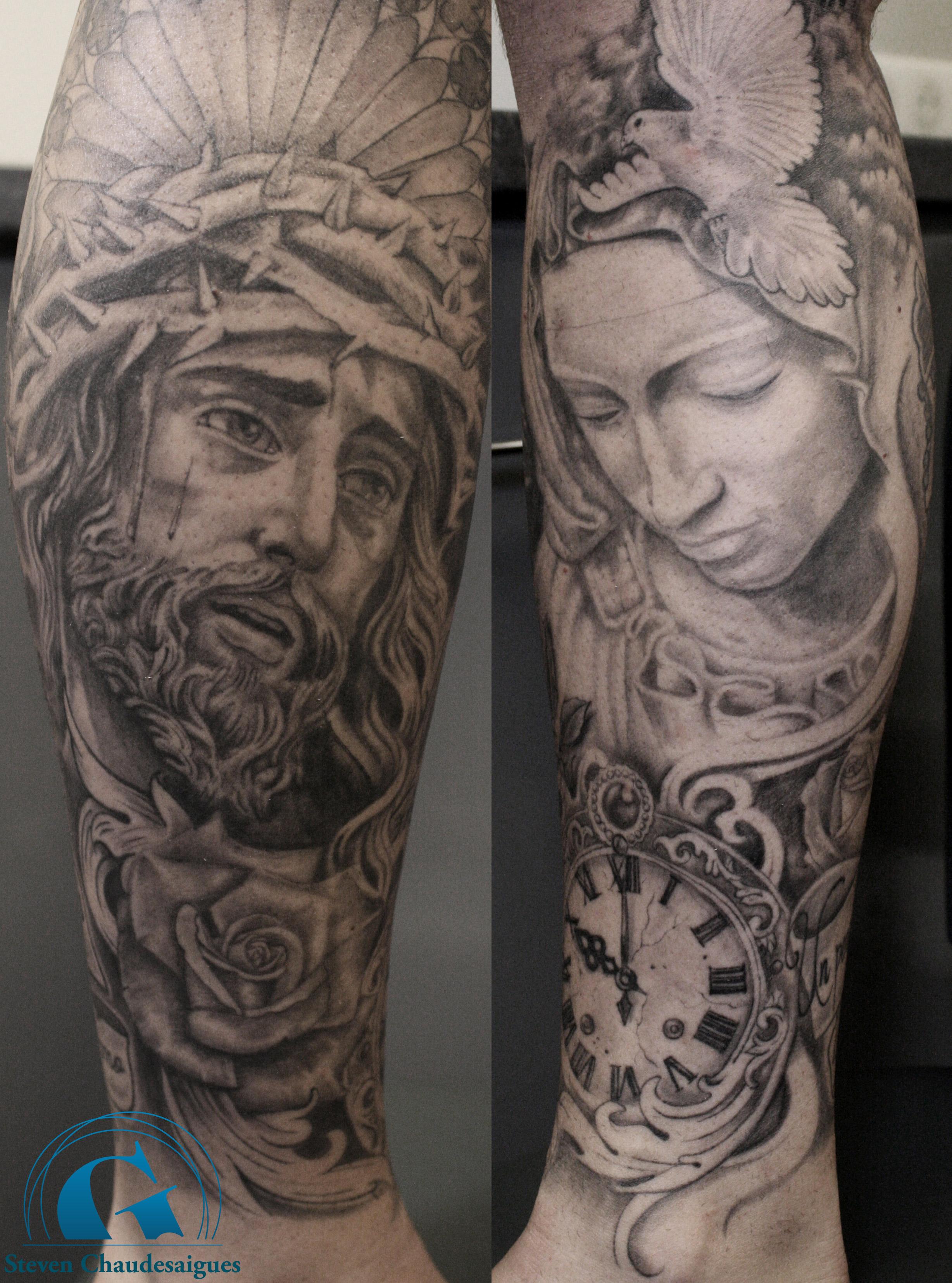 Tatouage Religieux Par Steven Chaudesaigues Graphicaderme