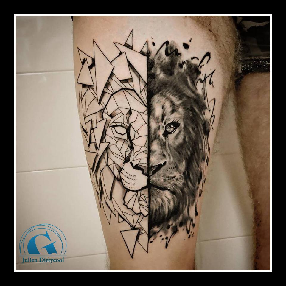 Tatouage Lion Le Best Of Du Salon Graphicaderme A Avignon