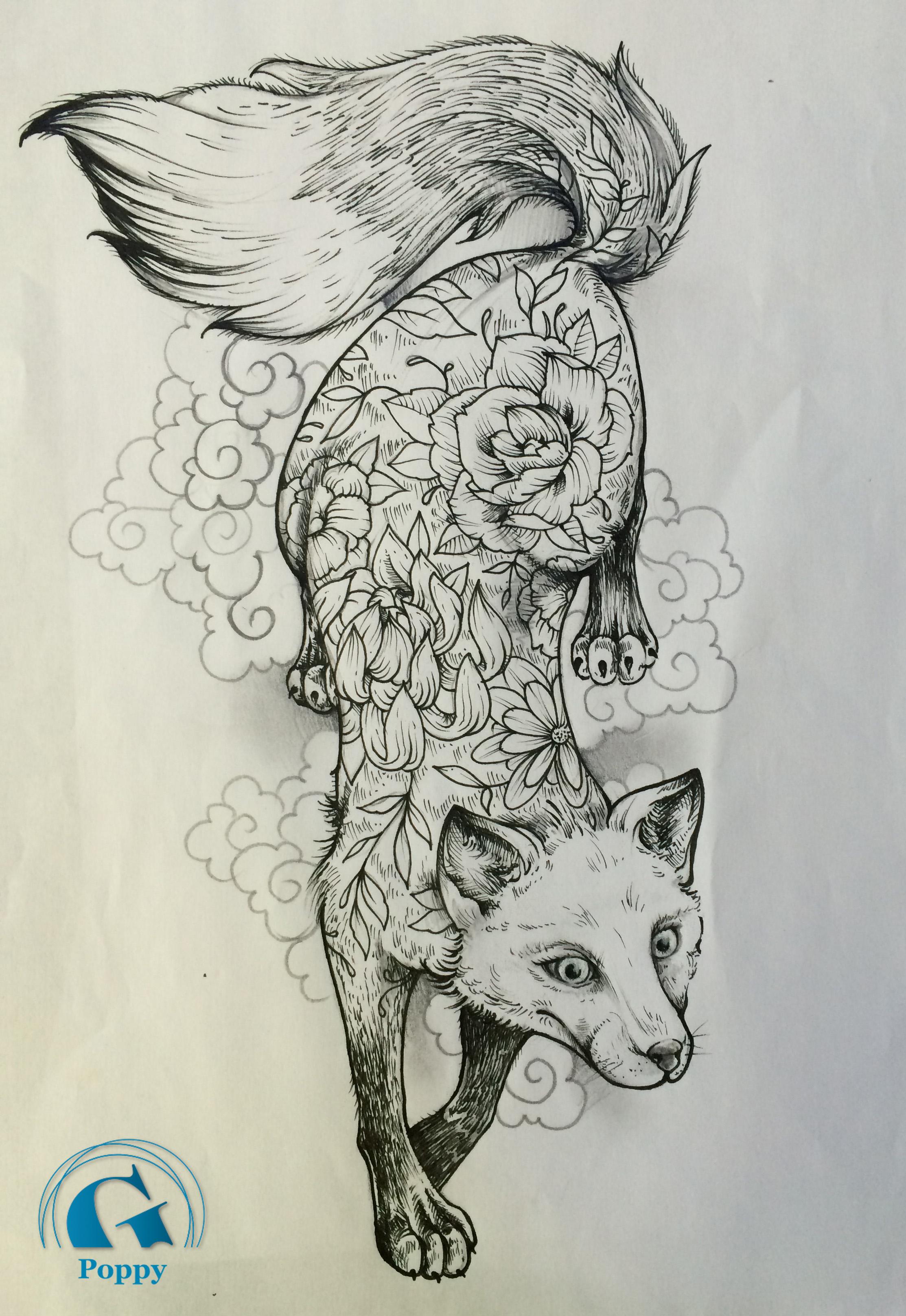 Dessin Idee Tatouage Renard Graphique Jpg Graphicaderme