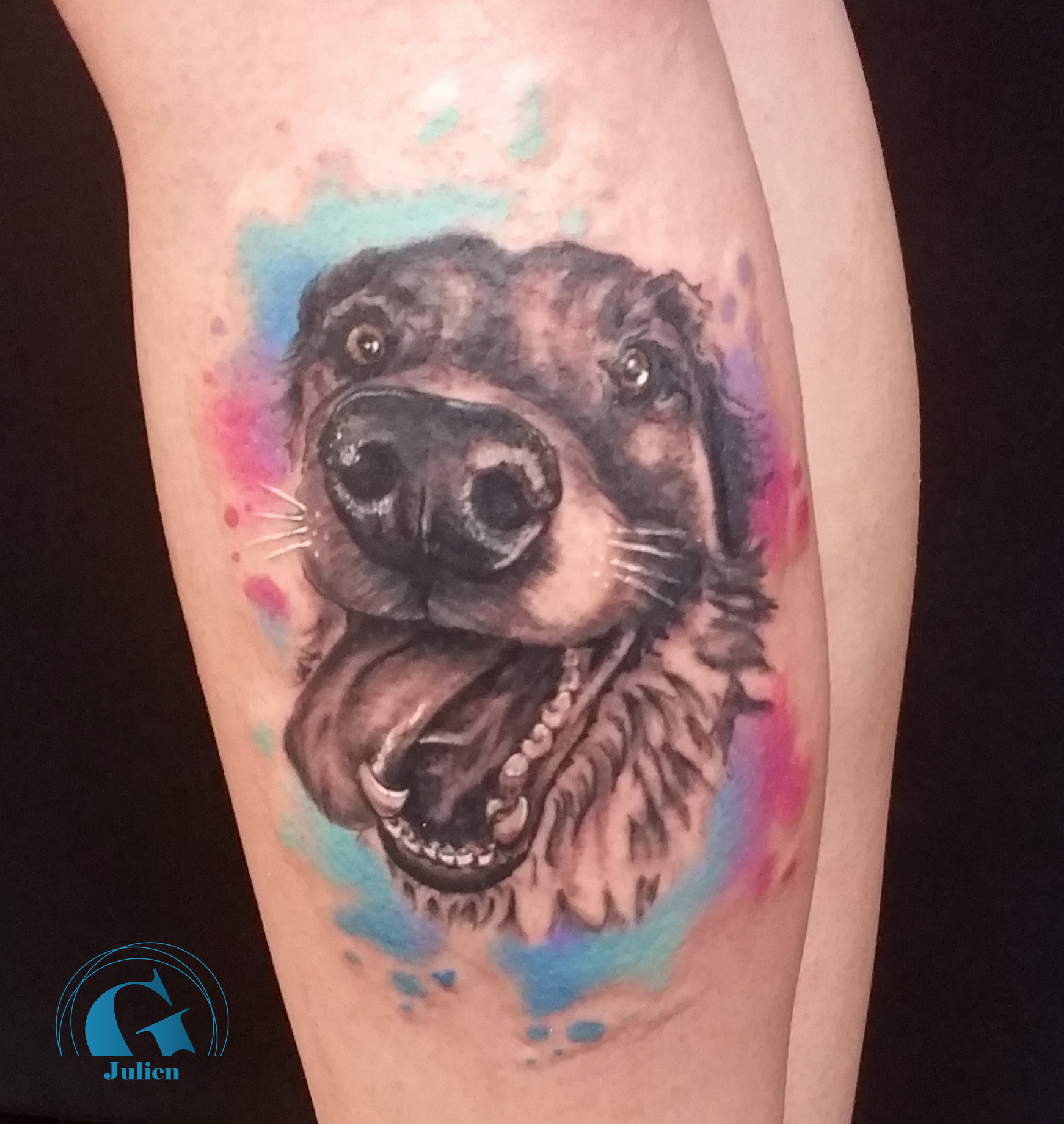 tatouage chien graphicaderme. Black Bedroom Furniture Sets. Home Design Ideas