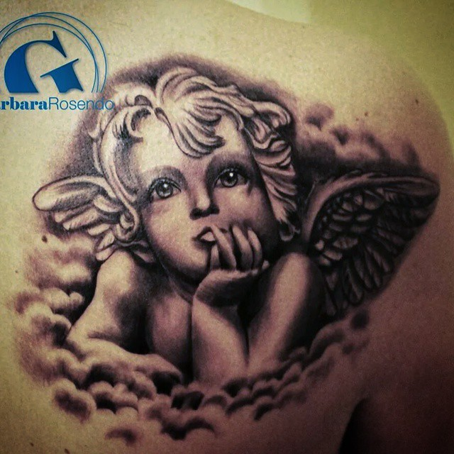 Tatouage ange graphicaderme - Dessin d ange gardien ...