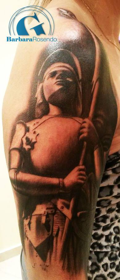 modele,tatouage,bras,femme,amazone,guerriere
