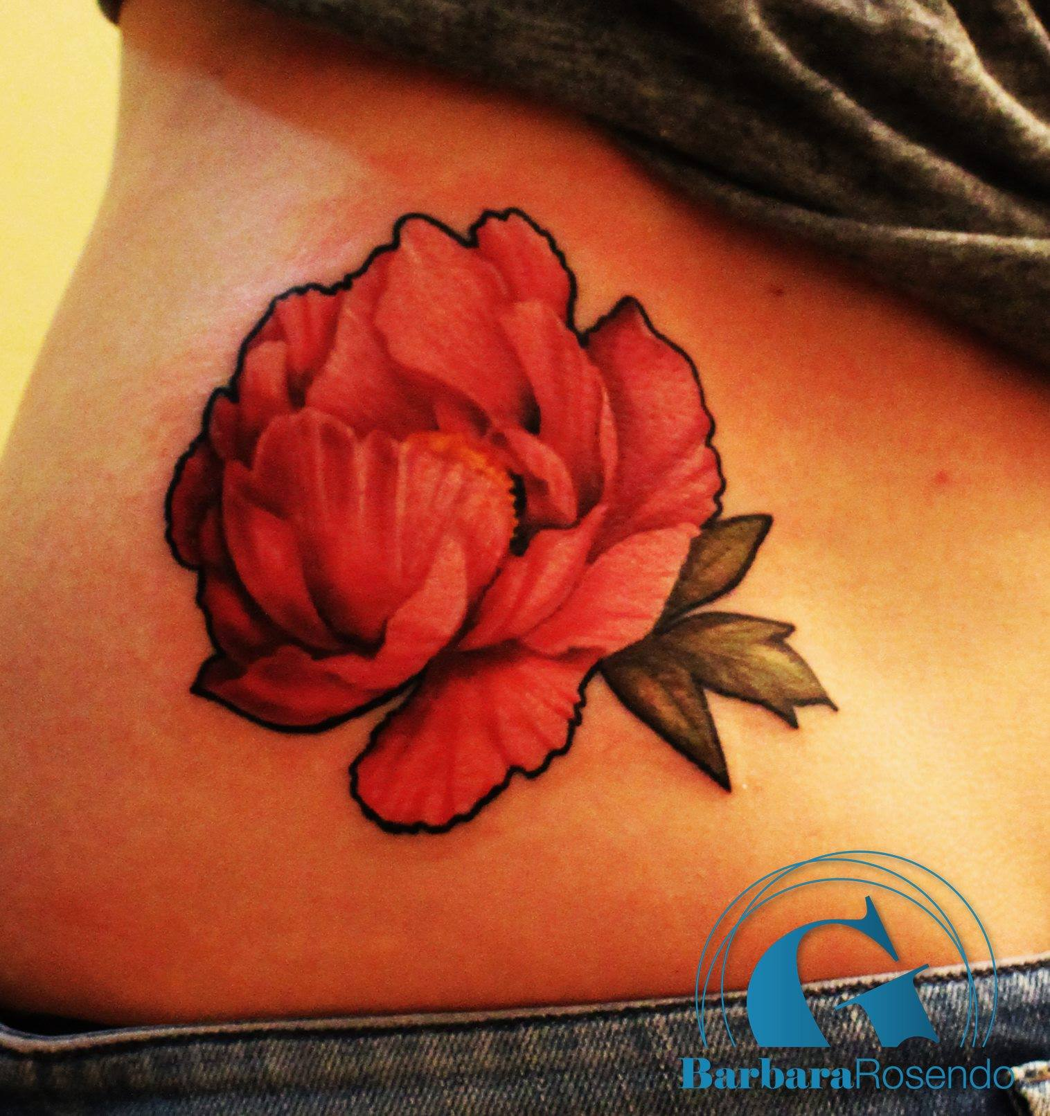 Modele Tatouage Fleur Pivoine Couleur Jpg Graphicaderme
