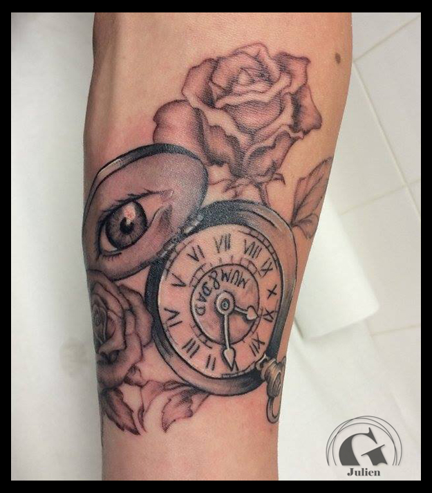 Tatouage Montre A Gousset Graphicaderme