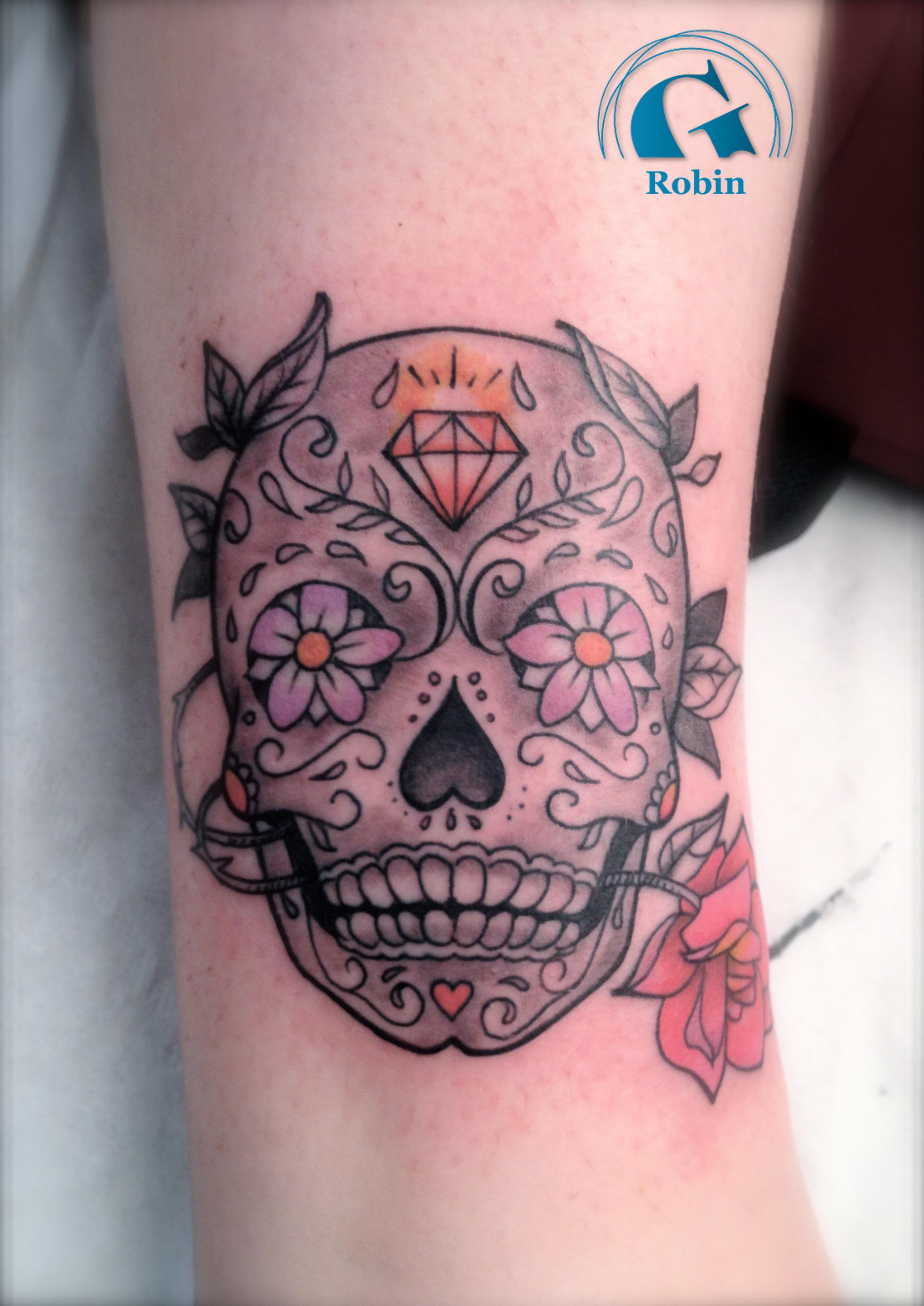 Tatouage tete de mort mexicaine femme fashion designs - Tete de mort signification ...