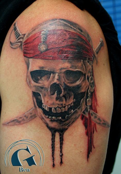 tatouage pirates des cara bes par ben graphicaderme. Black Bedroom Furniture Sets. Home Design Ideas