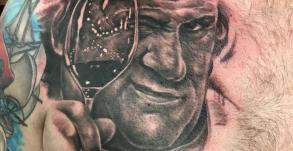 tatouage_gerard_depardieu_stephane_chaudesaigues_meilleur_tatoueur_auvergne