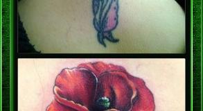 Recouvrement tatouage par David Coste meilleur tatoueur Orange
