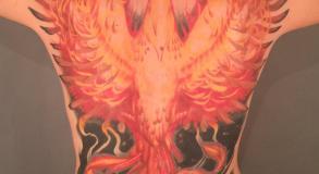 Galerie Tatouage Phenix Couleur Dos Avignon