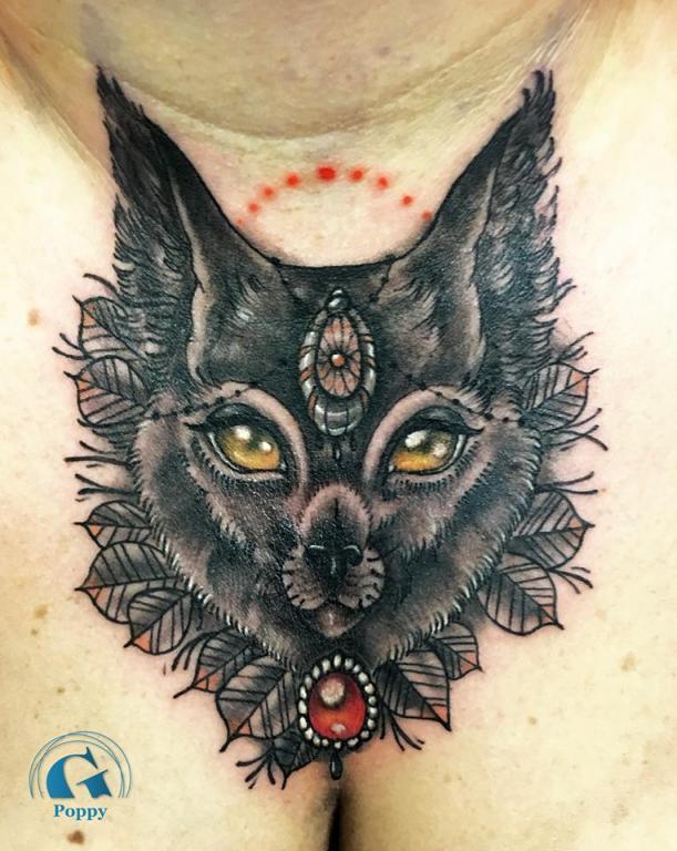 graphicaderme_avignon_lynx_néotraditionel_tatouage