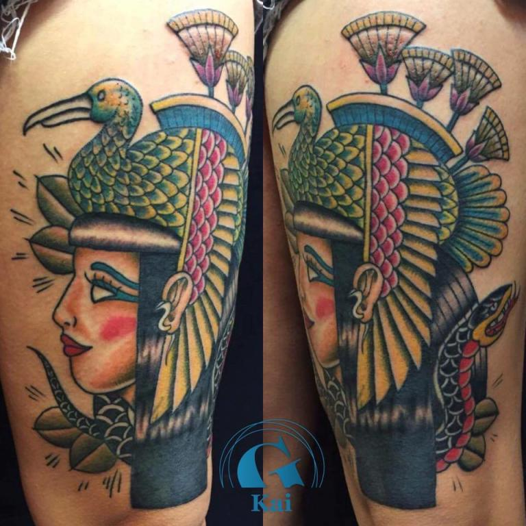graphicaderme_cleopatre_oldschool_tatouage