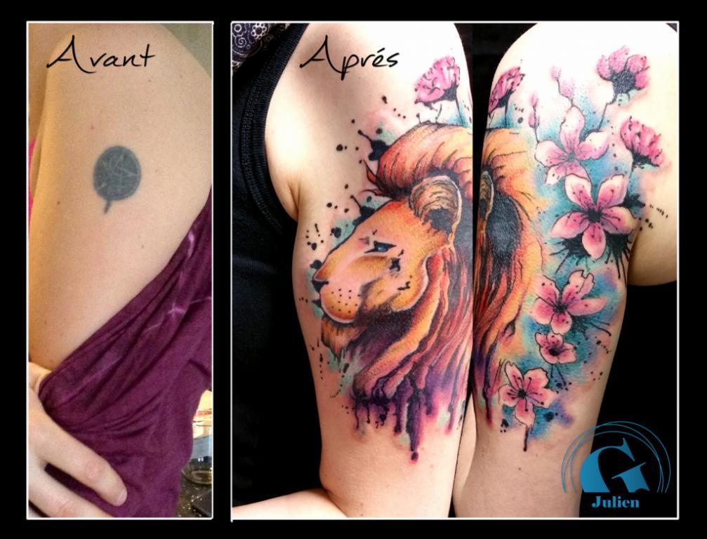 Tatouage En Hommage A Ses Enfants Pour Alice Graphicaderme Tattoo