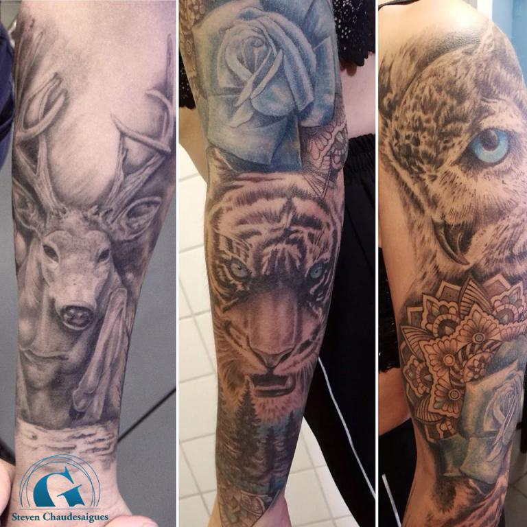graphicaderme-avignon-stevenchaudesaigues-tigre-cerf-hibou-animeauxtatouage-vaucluse-avignon-paca-tatoueur-tattoo-tattoocouleurs-brascomplet