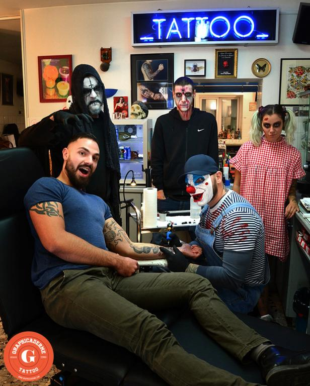 graphicaderme_avignon_halloween_tatouage_dark_skull_team_zombie_clown