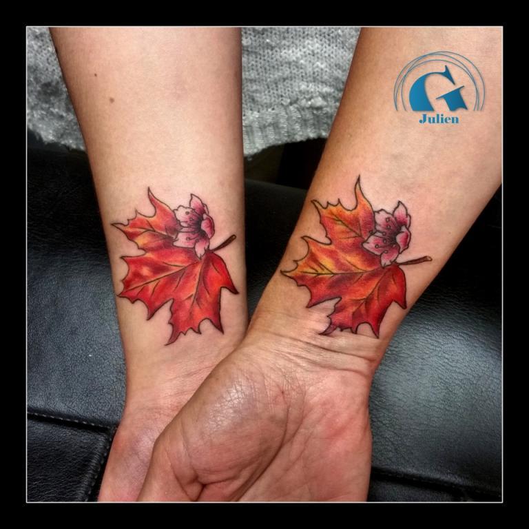 graphicaderme-juliendirtycool-tatouage-tattoo-tatouagemerefille-merefille-juliendirtycoolavignon-vaucluse-tatouagecomplementaire-erable-feuilleerable-tatouagecouleur