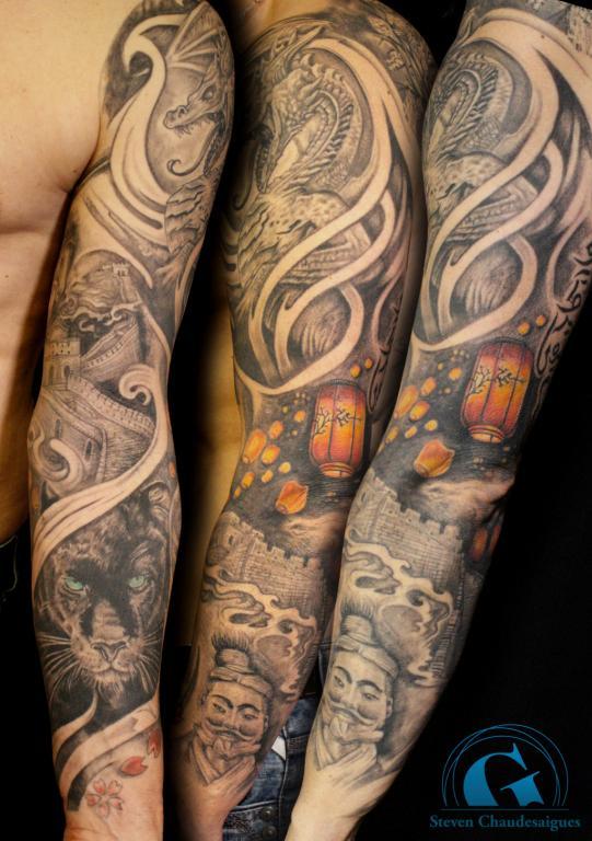 graphicaderme-stevenchaudesaigus-tatouage-tattoo-brascomplet-tatouagenoiretgris-tatouagejaponais-tatoueur