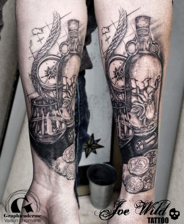 le tatouage pirate sign joe wild vaison la romaine graphicaderme. Black Bedroom Furniture Sets. Home Design Ideas