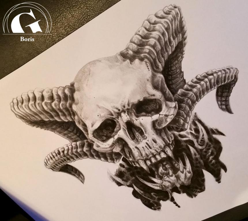 graphicaderme_boris_skull_dessin_sketch_avignon_lecornuchon-avignon-vaucluse-paca-tatouage-tatoueur