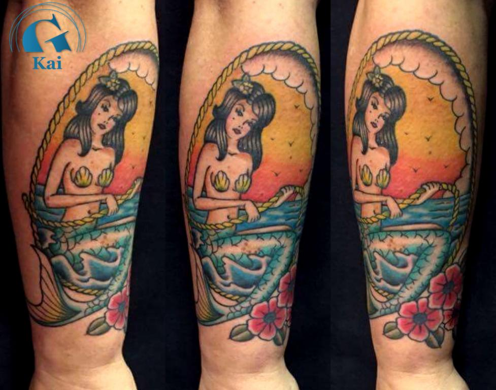 graphicaderme_avignon_vaucluse_sirène_oldschool_tatouage