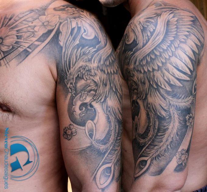 un tatouage phÉnix par steven chaudesaigues À avignon | graphicaderme