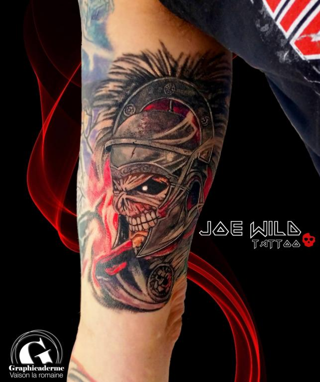 Un Nouveau Tattoo Iron Maiden De Joe Wild A Vaison Graphicaderme