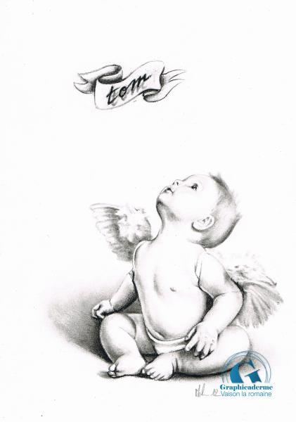 Galerie de dessins de m lanie graphicaderme - Dessin ange noir et blanc ...