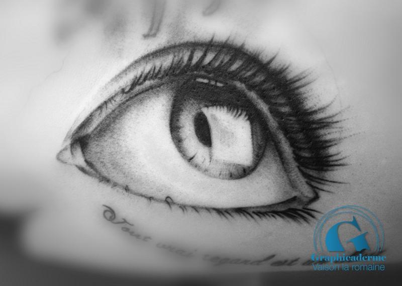 Oeil de paris tattoo pictures to pin on pinterest - Tatouage noir et blanc ...