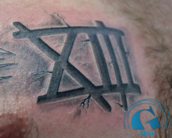 Tatouage xiii for Chiffre 13 signification