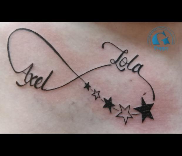ecriture,tatouage,prenoms,infini,graphicaderme