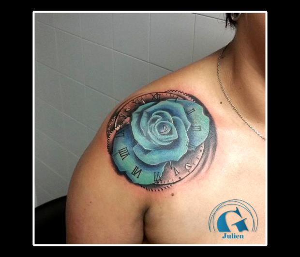 Tatouage Rose Graphicaderme