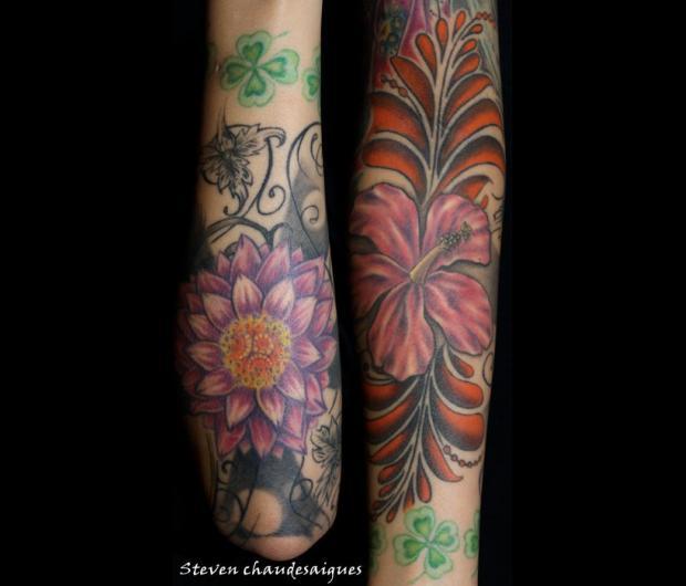 Tatouage bras femme graphicaderme - Tatouage homme fleur ...
