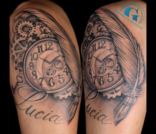 Tatouage Horloge Www Picswe Com