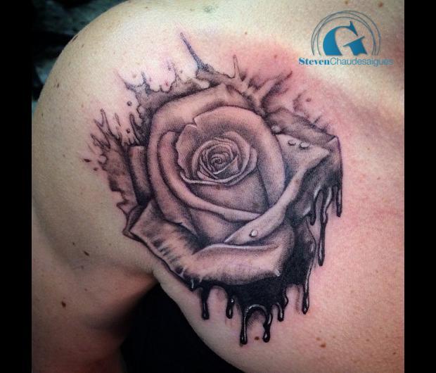 Tatouage rose bras dessin - Tatouage femme rose ...