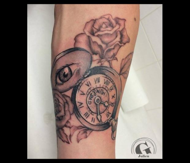 tatouage montre à gousset | graphicaderme