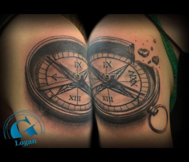 tatouage boussole et rose des vents | graphicaderme