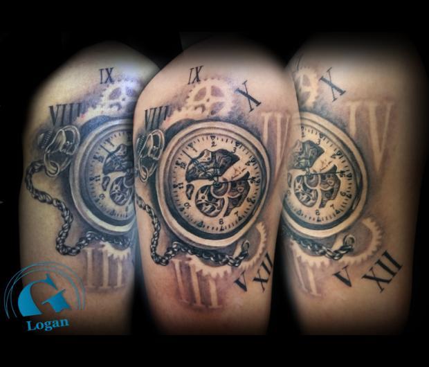 tatouage montre à gousset | graphicaderme