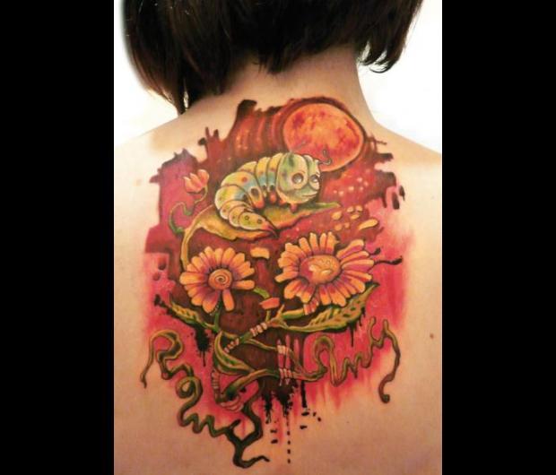 Styles tatouage graphicaderme - Tatouage fleur couleur ...