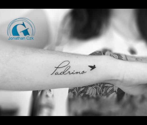 tatouage,ecriture,femme,phrase