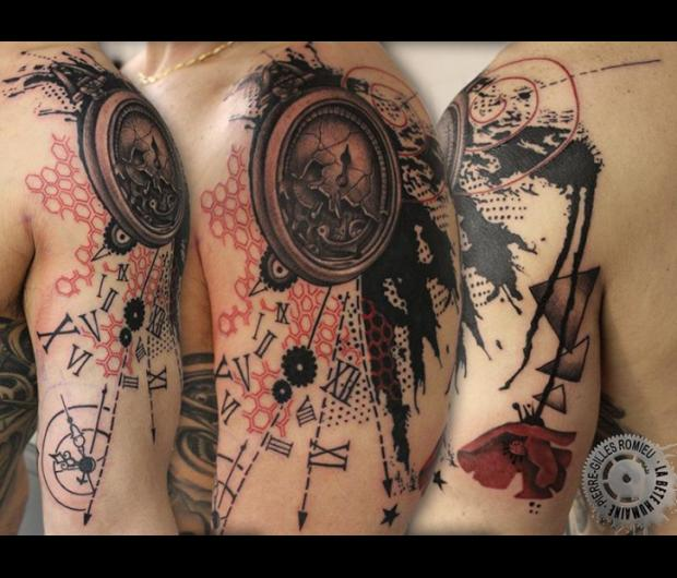 Tatouage Horloge Graphicaderme