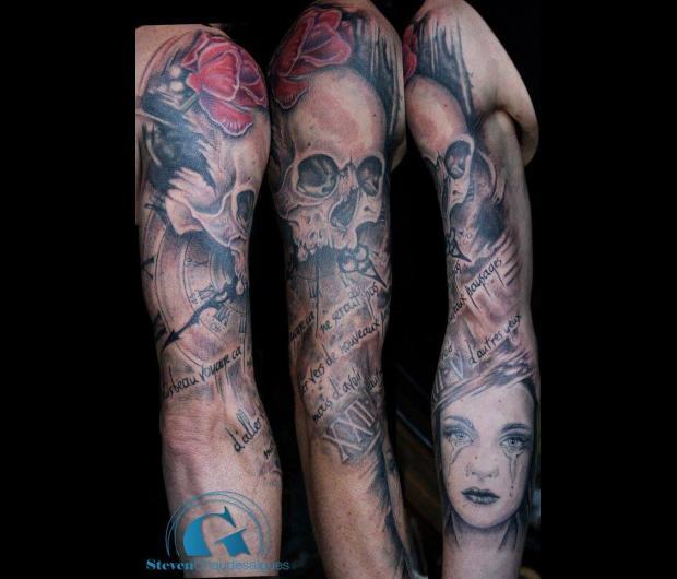 Tatouage sur tout le bras homme affordable tatouage sur - Tatouage tout le bras ...