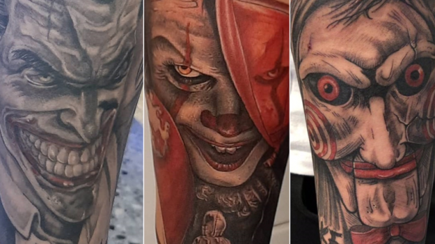 steven-chaudesaigues-meilleur-tatoueur-orange-vaucluse-graphicaderme-tattoo-joker-ca-saw