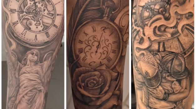 steven-chaudesaigues-meilleur-tatoueur-orange-vaucluse-graphicaderme-tattoo-horloge-montre