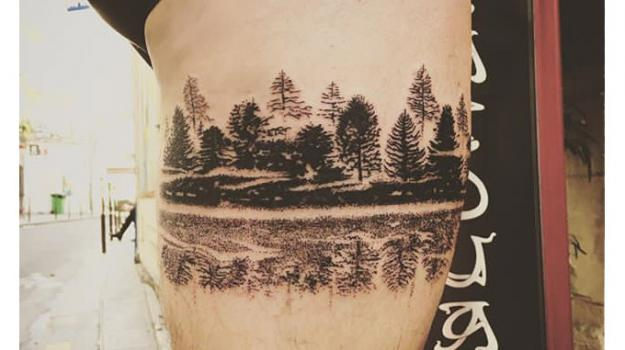 meilleur-tatoueur-paris-bro-tatouage-reflection-forest-landscape-tattoo