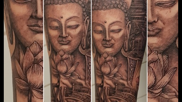steven-chaudesaigues-meilleur-tatoueur-orange-vaucluse-graphicaderme-tattoo-statue-bouddha